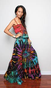 hippie jumpsuit boho jumpsuit tie dye hippie bohemian jumper maxi dress