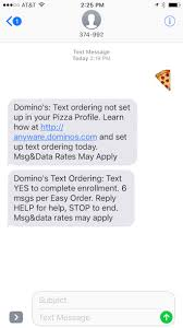how it works text message a pizza emoji to order domino u0027s tatango