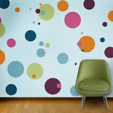 polka dot wall mural stencil kit for girls or baby room zoom