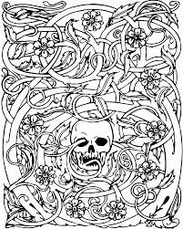 cool skull design coloring pages kids coloring