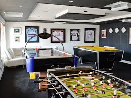 games room with pool table table football and air hockey for