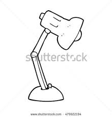 freehand drawn cartoon desk lamp stock illustration 474798142