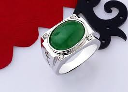 real stone rings images 925 silver ring jade natural stone rings for men real pure big 925 jpg