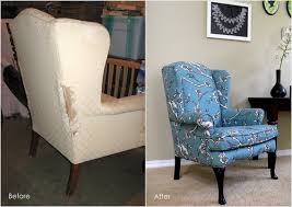 diy how to reupholster a wingback chair