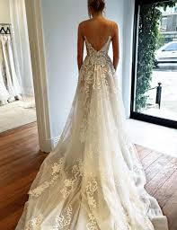 backless wedding dresses buy simple spaghetti straps sweep backless wedding dress