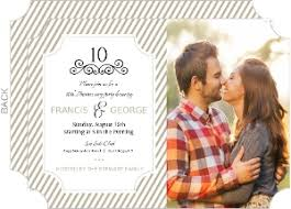 10th wedding anniversary cheap 10th anniversary invitations invite shop