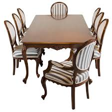 Antique Wooden Dining Table Antique Anglo Indian Teak Wood Dining Table With Eight Chairs For