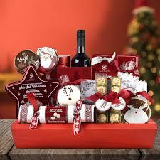 christmas wine gift baskets christmas gift baskets the cozy christmas wine gift basket