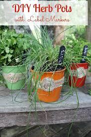 Diy Herb Garden Best 25 Herb Pots Ideas Only On Pinterest Diy Herb Garden