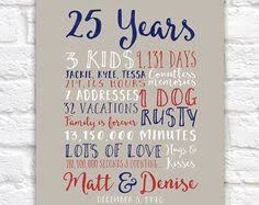 25 year anniversary gift ideas for personalized anniversary gifts wedding date canvas 15th year