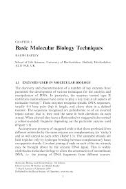 lab bench molecular biology basic techniques in molecular biology pdf download available