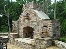 outside stone fireplace outdoor stone fireplace on wood deckbest