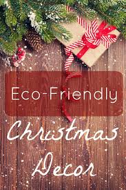 eco friendly christmas decor