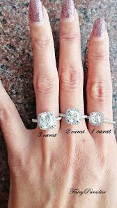 2ct engagement rings 3 carat cushion halo engagement ring cushion cut bridal set