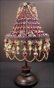 Small Shades For Chandeliers Bejeweled Lamp Shade Bohemian Gypsy Style Pinterest