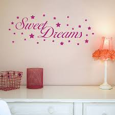 sweet dreams wall stickers by nutmeg notonthehighstreet com sweet dreams wall stickers