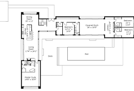 L Shape House Plans Magnificent  Shaped Ranch House Plan With - L shaped home designs
