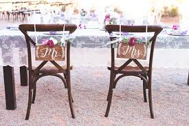 wedding chair signs mr and mrs chair signs wedding chair sign mr and mrs sign