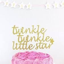twinkle twinkle cake topper birthday decoration cake topper party cake decorations any