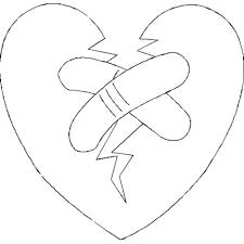 broken hearts coloring pages u003e u003e disney coloring pages