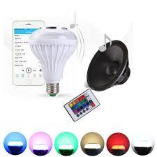 Bluetooth Light Bulb Speaker 2016 E27 Light Bulb Intelligent Colorful Led Lamp Bluetooth 3 0
