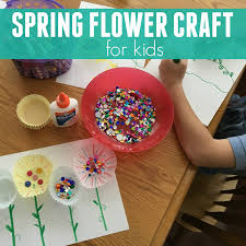 toddler approved simple spring flower craft