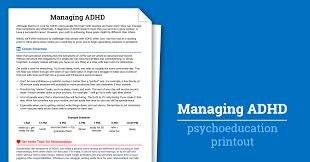 Time Management Worksheet Managing Adhd Worksheet Therapist Aid