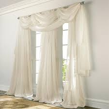 sheer window treatments elegance voile beige sheer curtain bedbathhome com