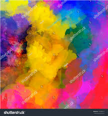 abstract watercolor palette blue colors mix stock vector 196486619