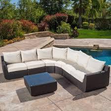 Brayden Studio Liverman  Piece Outdoor Wicker Sectional Seating - Outdoor furniture sectional