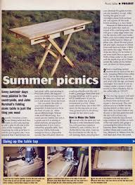 Folding Picnic Table Plans Folding Picnic Table Plans U2022 Woodarchivist