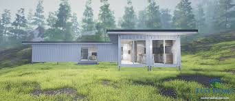 sch2 2 x 40ft single bedroom container home eco home designer