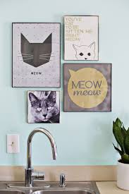 Kitchen Wall Decor Ideas Diy 25 Best Cat Decor Ideas On Pinterest Cat Things Cat Quotes And