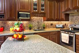 oak wood ginger shaker door kitchen counter decorating ideas sink