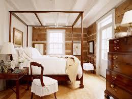 vintage kids bedroom design with brown varnished teak wood canopy