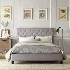 impressive upholstered headboard bed frame best bed frames with