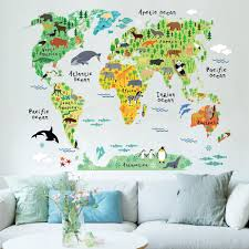 World Map Cartoon by Online Get Cheap World Map Cartoon Wall Sticker Aliexpress Com