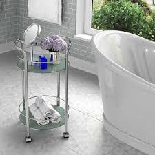 Rolling Bathroom Storage Cart by Bathroom Storage Bath Cart Dar Living Versa Rolling Glass Bath