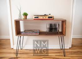 Storage Console Table by Console Table With Hairpin Legs Perfect For Record Players And