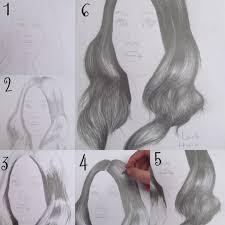 drawing dark hair step by step by artfreaka on deviantart
