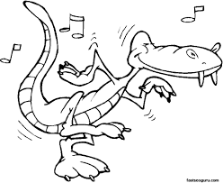 alligator coloring page stunning free alligator coloring pages