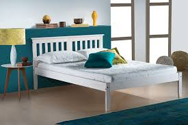 4ft Wooden Bed Frame Birlea Salvador Bed Wood White Small Co Uk