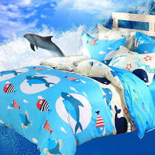 Girls Jungle Bedding by Ocean Blue White Red Undersea World Scene Sharks Whales And