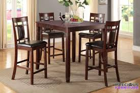 f2252 5 pieces cherry wood counter height table set