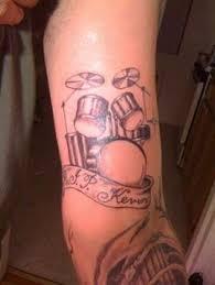 Drummer Tattoo Ideas Drumsticks And Drums Tattoo U2026 Pinteres U2026