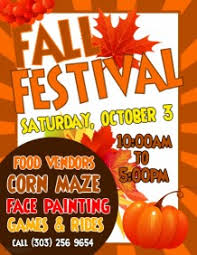 festival brochure template customizable design templates for fall festival postermywall