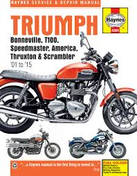 triumph bonneville 01 15 haynes repair manual haynes publishing