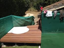 jacuzzi bois exterieur pour terrasse contour d u0027un jacuzzi en cumaru a fuveau parquet et terrasse en