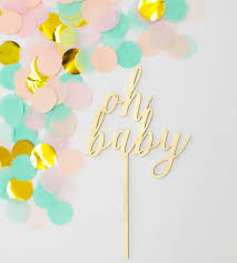gender reveal cake topper oh baby gold cake topper oh baby cake topper oh baby theme baby
