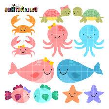 hd baby sea animals cute animal drawing